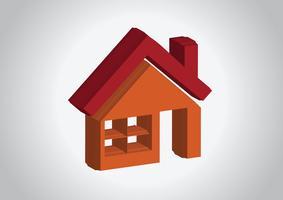 Icona della Camera e Real Estate Building disegno astratto