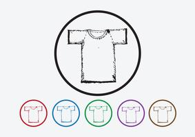 Camicia di abbigliamento e icone di abbigliamento icona t-shirt