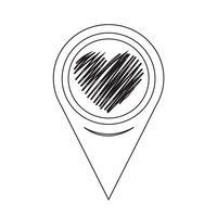 Icona del cuore puntatore mappa