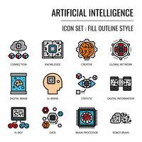 Icona di intelligenza artificiale vettore