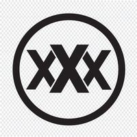 XXX icona simbolo segno