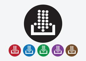 Scarica icona e carica il pulsante simbolo
