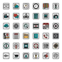 Icona di struttura dell'applicazione mobile