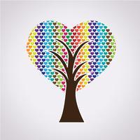 Segno di simbolo dell'albero di amore