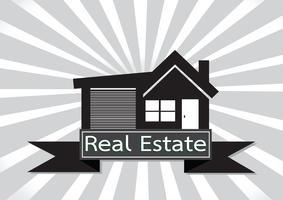 Real Estate House Building design di icone vettore