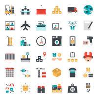 icona logistica e dei trasporti