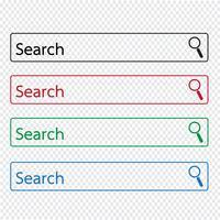 icona della barra di ricerca vettore