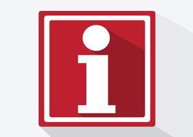 Icona del segno di informazioni