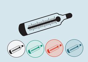 Icona web termometro medico vettore