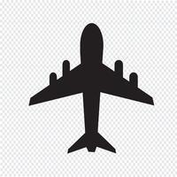 segno di simbolo dell'icona dell'aeroplano