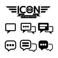 Segno di simbolo dell'icona di chat vettore