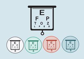 Illustrazione della prova del diagramma di occhio vettore