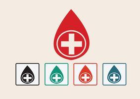Set di icone di goccia di sangue