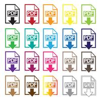 PDF icona simbolo segno