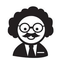 Icona di scienziato o professore vettore