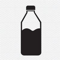 icona della bottiglia d'acqua vettore