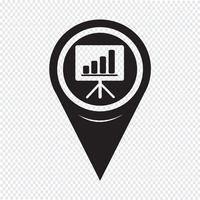 Icona della scheda di presentazione del puntatore della mappa