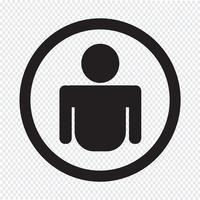 Segno simbolo icona persona