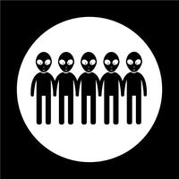 Segno simbolo icona aliena