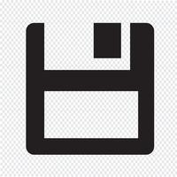 icona del disco floppy vettore