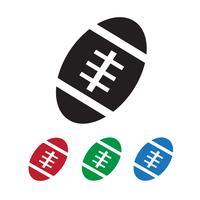 Icona della palla di football americano vettore