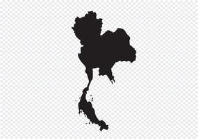 Mappa della Thailandia Segno simbolo vettore