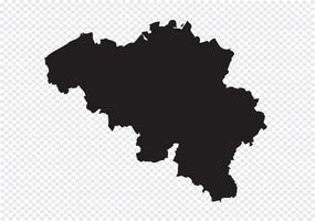 Mappa del Belgio simbolo segno vettore