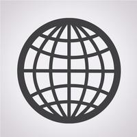 Segno simbolo icona globo
