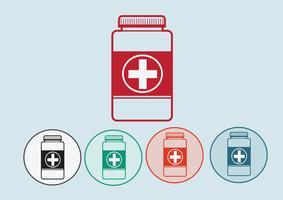 Segno di simbolo di bottiglia di medicina