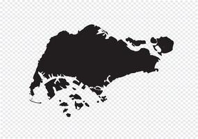 Mappa di Singapore Segno simbolo