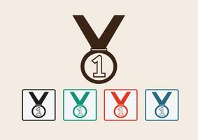 Set di icone di medaglia