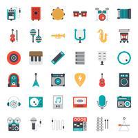 set di icone di musica