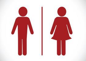 Icona della toilette e pittogramma Uomo donna segno vettore
