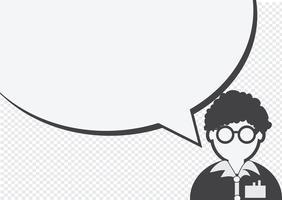 Icona della gente e gente che parla al fumetto vettore
