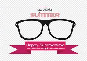 Scheda di disegno di idea di concetto di estate