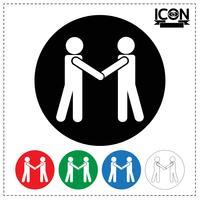 Icona della stretta di mano della gente vettore