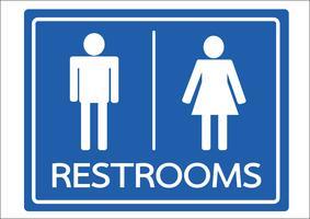 Icona maschile e femmina di simbolo bagno vettore