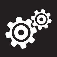 Segno dell'icona dell'ingranaggio simbolo