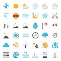 Icona di contorno di previsioni del tempo vettore