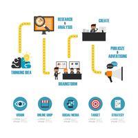 infografica marketing online vettore