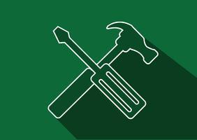 Icona strumenti e martello