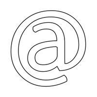 icona simbolo e-mail vettore