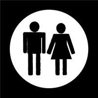 uomo e donna Icona della gente