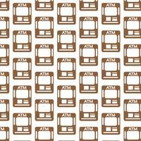 Atm pattern di sfondo vettore