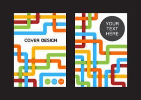 copertina di libro moderna vettore