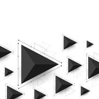 triangolo moderno sfondo vettore
