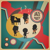 manifesto astratto della banda di jazz vettore