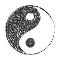 sfondo di yin yang vettore