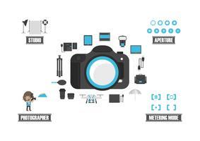 set di icone della fotocamera vettore