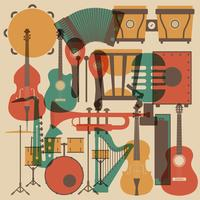 musica classica astratta vettore